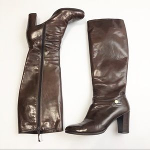 Ferragamo Heeled Brown Boots in Size 8.5M